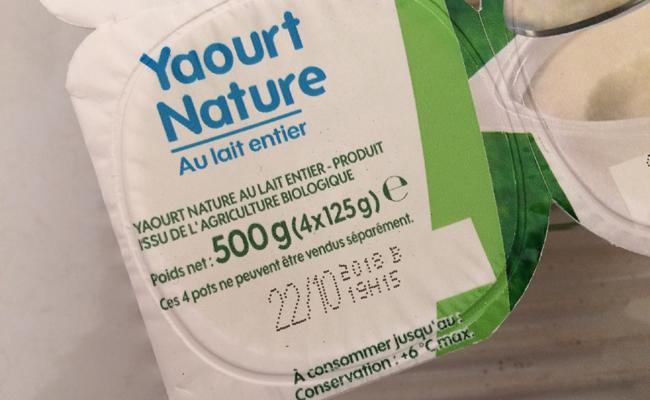 Date limite de consommation des yaourts